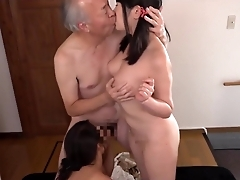 Horny grandpa drills young Asian cunts.