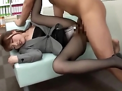 Asian secretary got fucked by boss.