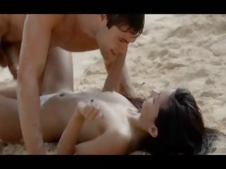 Asian cuties like having sex on the beach.